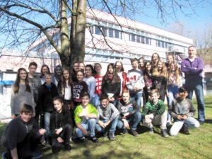 Die Klasse 7.6 mit Matthias Dickert und Keleila Loewen